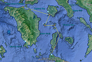 cruising routes Philippines